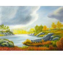Autumnal landscape Photographic Print