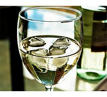 Glass of moscarto wine Photographic Print