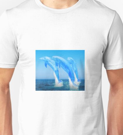 Water dolphins Unisex T-Shirt