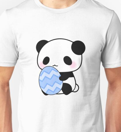 Easter Panda Blue Pattern Egg Artistic Cute Gifts  Unisex T-Shirt