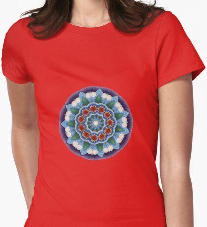 Mandala : Flower Burst  Womens Fitted T-Shirt