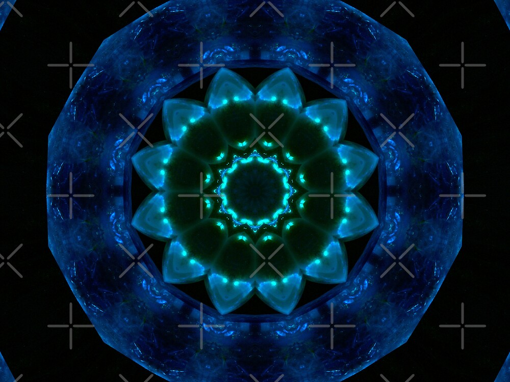 Crystal Kaleidescope - Blue by Sandra Chung