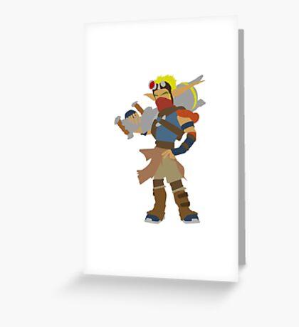 Jak 3-Jak Greeting Card