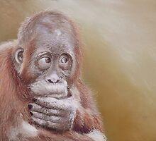 Lear (Baby orangutan) by Leigh Rust