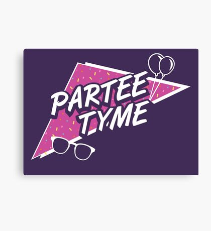 Official Dirty 30 - Partee Tyme Tee Canvas Print