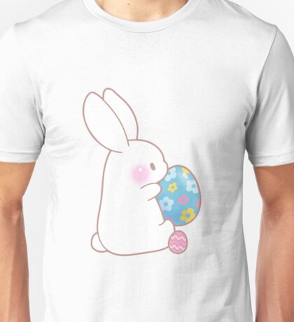 Easter Bunny Blue Pink Pattern Egg Artistic Cute Gifts Unisex T-Shirt