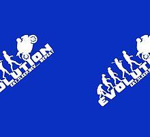 Biker Evolution Eat, Sleep, Rev... Repeat Blue mug by outlawalien