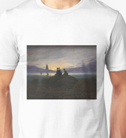 Caspar David Friedrich - Moonrise Over The Sea Unisex T-Shirt