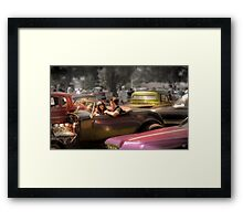 Portrait of a Hot Rod Couple Framed Print
