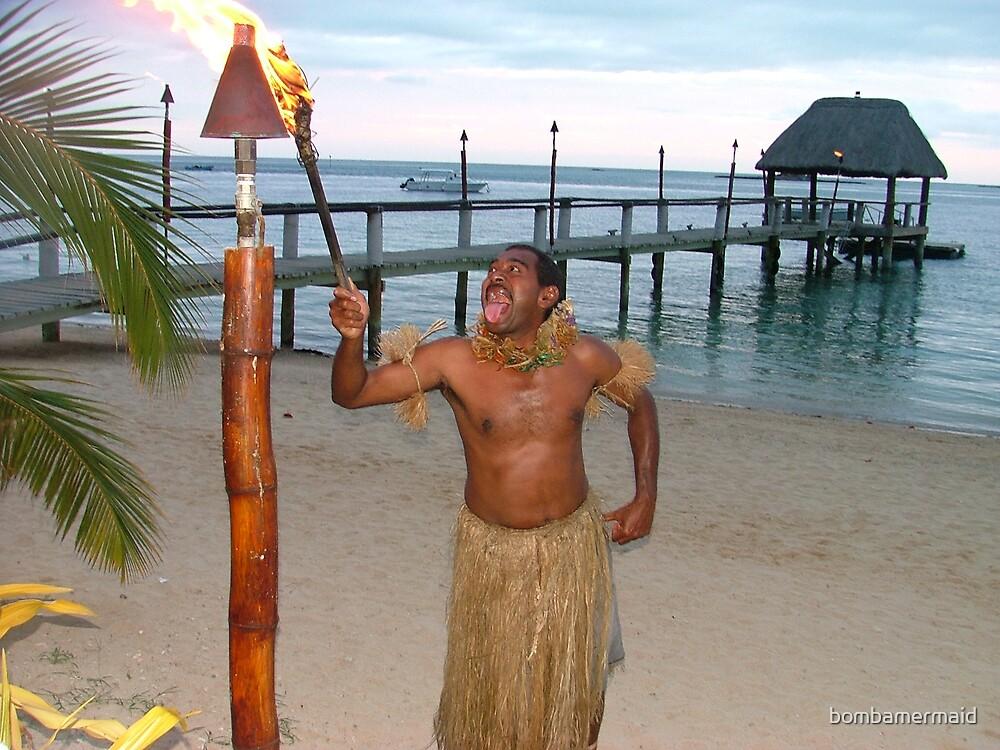 On fire in Fiji by bombamermaid