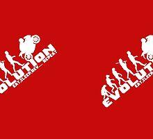 Biker Evolution Eat, Sleep, Rev... Repeat Red mug by outlawalien