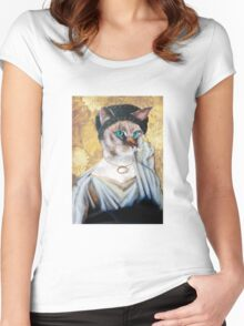 Greek Lady Cat Women's Fitted Scoop T-Shirt
