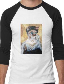 Greek Lady Cat Men's Baseball ¾ T-Shirt