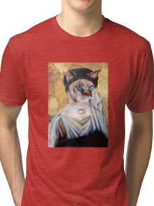 Greek Lady Cat Tri-blend T-Shirt