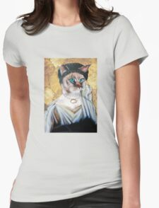 Greek Lady Cat Womens Fitted T-Shirt