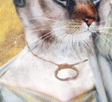 Greek Lady Cat Sticker