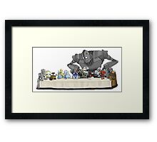 The Last Robot Supper Framed Print