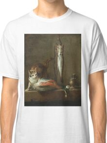 Chardin - Still Life With Cat And Fish Classic T-Shirt