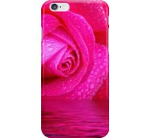 Rose reflected in water iPhone Case/Skin