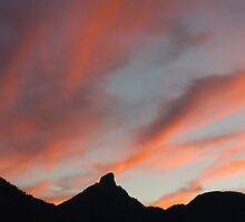 Sunset over Mt Warning by jagphoto