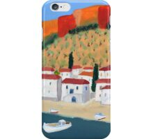 Greek Painting Small Village iPhone Case/Skin