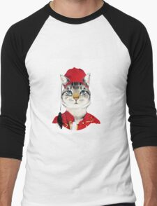 Original Greek Cat Art Print Men's Baseball ¾ T-Shirt
