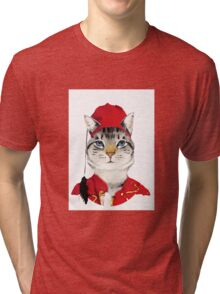 Original Greek Cat Art Print Tri-blend T-Shirt