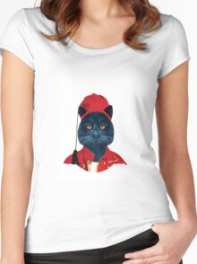 Charming Greek Cat Women's Fitted Scoop T-Shirt
