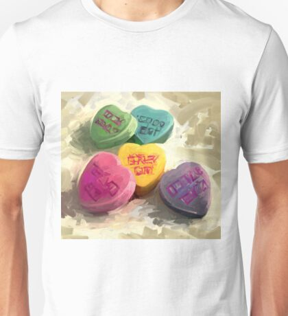 Secret Admirer -- ( valentines, hearts, sweethearts, candy ) Unisex T-Shirt