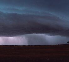 outback storm by Tony Middleton