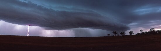 outback storm by Tony Middleton