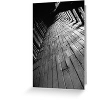 Wooden Textures Greeting Card