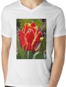Spring tulip Mens V-Neck T-Shirt
