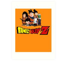 Family Guy Z Art Print