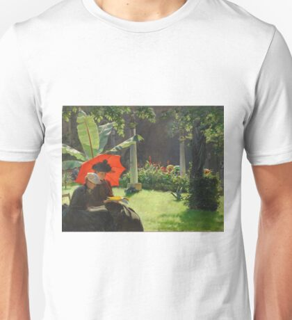 Charles Courtney Curran - Afternoon In The Cluny Garden, Paris 1889 Unisex T-Shirt