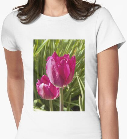 Spring tulip 4 Womens Fitted T-Shirt