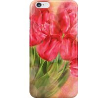 Tulips on Bokeh Background iPhone Case/Skin
