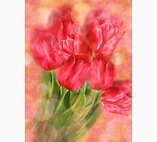 Tulips on Bokeh Background Womens Fitted T-Shirt
