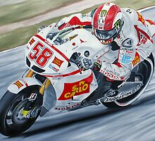 Marco Simoncelli  by iconic-arts