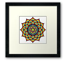 Flower of Life Metatron's Cube Framed Print