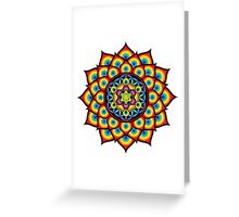Flower of Life Metatron's Cube Greeting Card