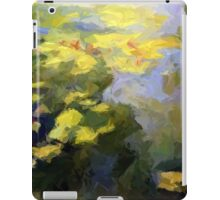 water lilies abstract impressionist iPad Case/Skin