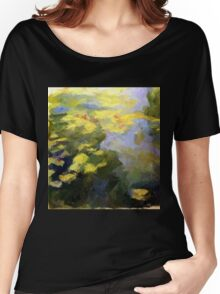 water lilies abstract impressionist Women's Relaxed Fit T-Shirt