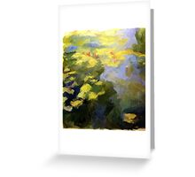 water lilies abstract impressionist Greeting Card