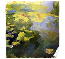 water lilies abstract impressionist Poster
