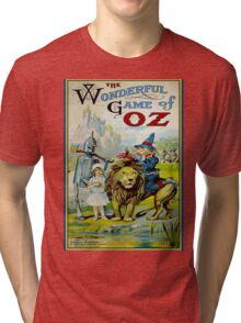 OZ; Vintage Game Advertising Print Tri-blend T-Shirt