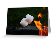 Flame Flickered Golden Goodness Greeting Card