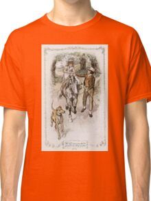 Charles Edmund Brock - Jane Austen The Riding Lesson Classic T-Shirt