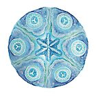 Calm Peaceful Blue Mandala Art by danita clark