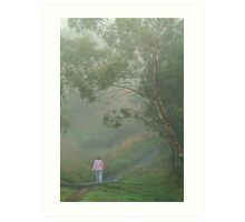 Misty Morning Walk,Waurn Pond Creek Art Print